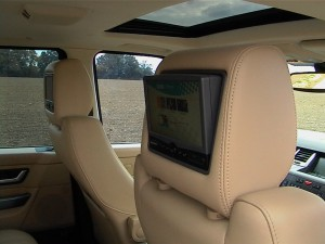 Range Rover headrest screens