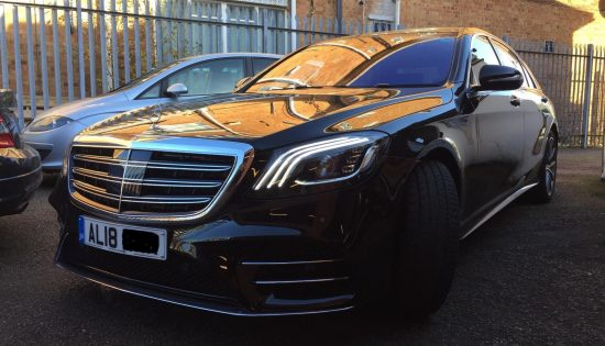 2018 Mercedes S500 with Burmester Upgrade in for a Speaker Audio Upgrade